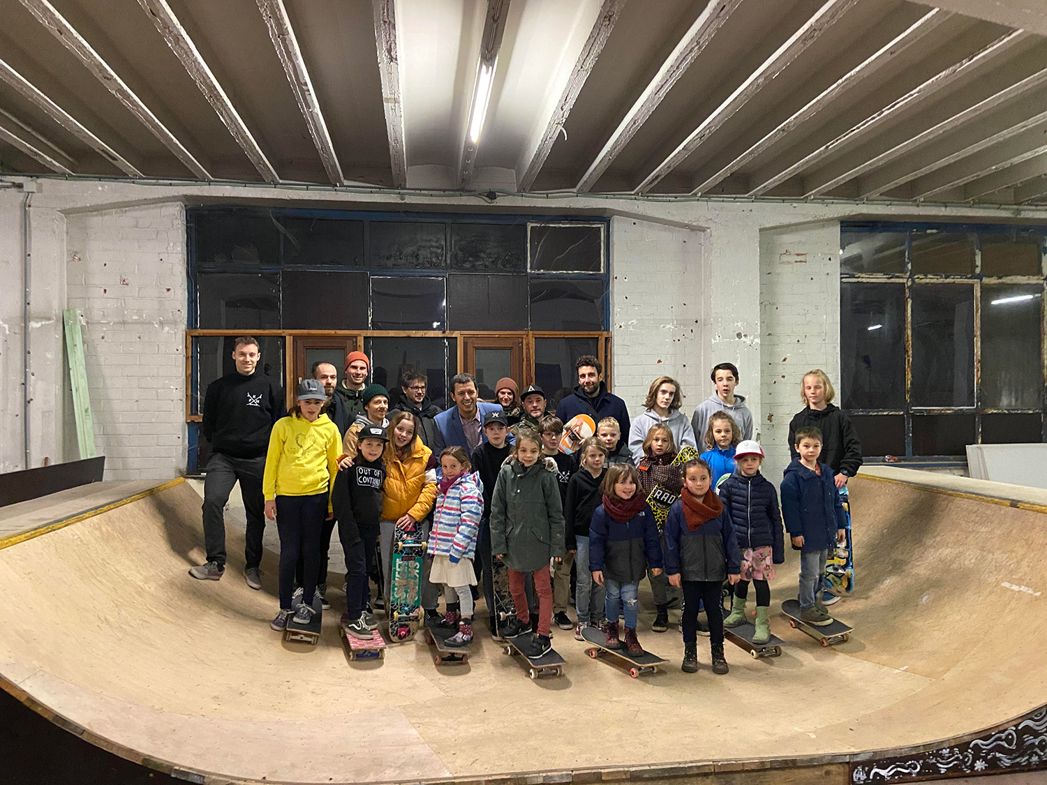 Opening indoor skatepark in Hasselt