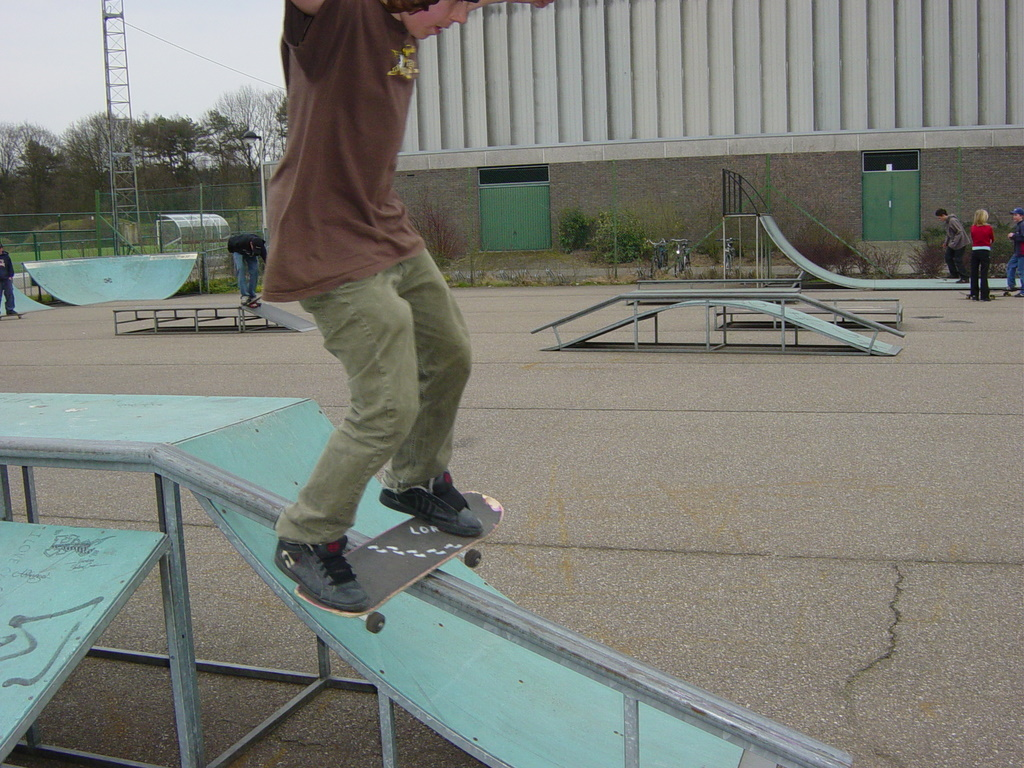 Boardslide by Unknown skater at Skatepark Kiewit Photo by ???
